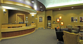 Harr Dental's empty reception area